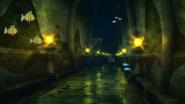 Undersea temple corridor