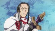 Kuradeel staring at his broken sword