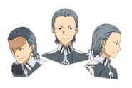 Humbert Zizek face pattern for Alicization anime