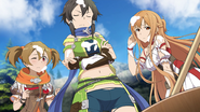 Sinon, Asuna and Silica covered in mochi