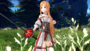 Asuna readying for combat
