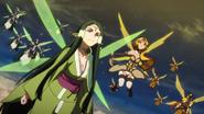 Sakuya and Alicia flying
