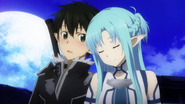 Asuna sharing a close moment with Kirito MT
