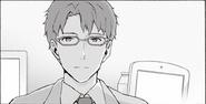 Kikuoka Seijirou after Kazuto's first dive to Underworld in PA manga Chapter 04
