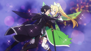 LS Kirito and Leafa dancing