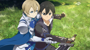 Eugeo teaching Kirito his techniques after his Heroine Event HR DLC3