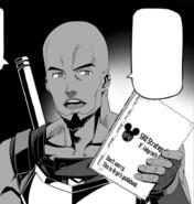 Agil displaying Argo's guidebook at the 1st Floor Boss Strategy Meeting - Progressive manga c3