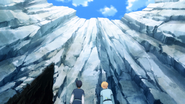 Eugeo and Kirito entering The End Mountains to find Selka - S03E03