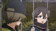 Shino venting her anger about Kirito to Kyouji