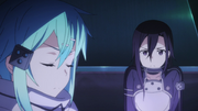 Sinon and Kirito in the waiting room