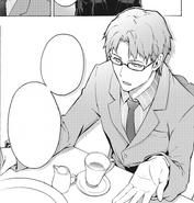 Kikuoka Seijirou talking to Kazuto in Phantom Bullet manga Stage 01