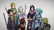 Asuna and the Sleeping Knights preparing for battle