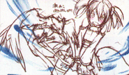 HF Full Guide Pina flapping up Silica's skirt sketch