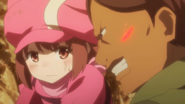 LLENN surprised that Eva is not reacting to pain while restraining her P90 AGGO E5