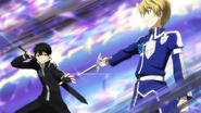 Kirito and Eugeo sparring in Alfheim MT