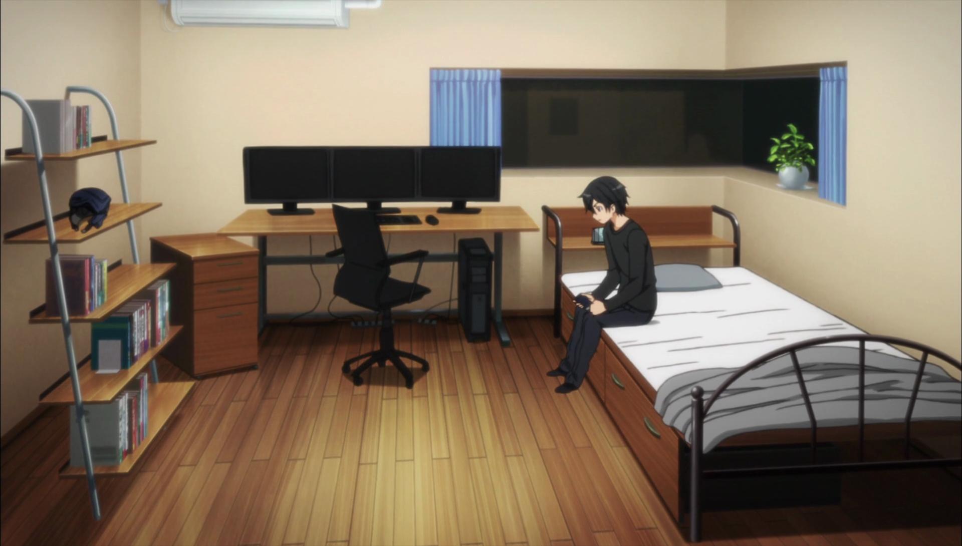 Twilight Bedroom Set Image Kirigaya Residence Kazuto S Room Png Sword Art