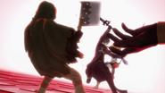 Kirito saving Philia