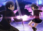 Kirito and Koharu against Nato the Colonel Taurus IF F2