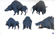 Design Works Monsters Frenzy Boar Coloured