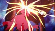 Yui defeating The Fatal Scythe