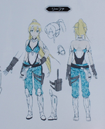 Leafa concept from Fatal Bullet Guide