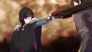 Masked NPC holding her sword to Kirito's neck HR DLC1