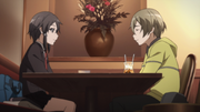 Shino and Kyouji in the cafe