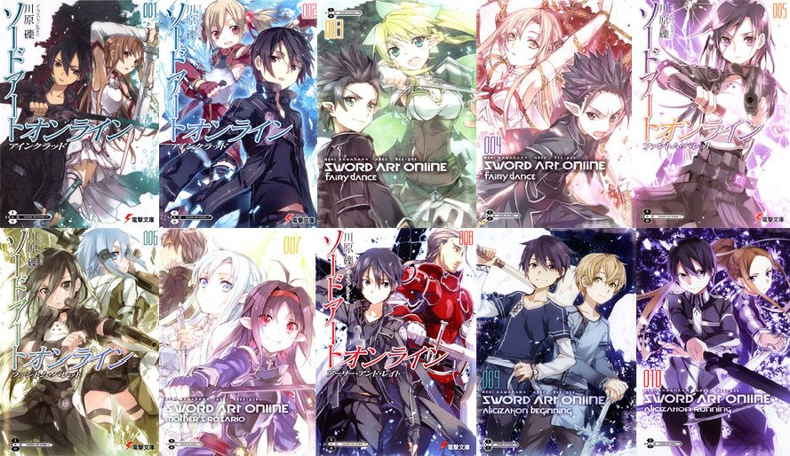 Beautiful SAO Light Novels