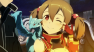 Silica, Pina and Kirito in Hollow Area