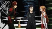 Kirito,Asuna and Klein BD