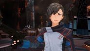 Itsuki distracted by Protagonist's move in Fatal Bullet
