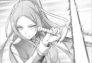 Sortiliena parrying Kirito's attack during their practice PA manga Chapter 16