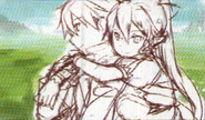 HF Full Guide Leafa bed hugging Kirito sketch