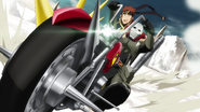 Klein riding with Ash Roller