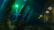 Undersea temple interior
