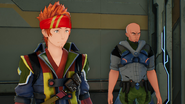 Klein and Agil during a meeting after forced logout incident in Fatal Bullet