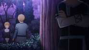 Eugeo promising to Selka to return to the village with Alice and Kirito - S3E04