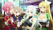 Lux reuniting with Lisbeth, Silica, and Leafa MT
