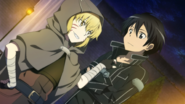 Argo and Kirito in Hollow Area