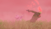 LLENN eliminating enemies while being hidden in a pink smoke - AGGO S01E09