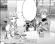 Siune and Jun during an MMO Stream in OS manga chapter 5