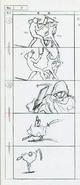 05 Movie Story Board - Kirito suddenly attacking Hollow PoH to save Philia - Hollow Fragment The Complete Guide