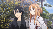 Asuna with Kazuto in the East Garden