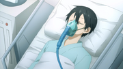 Kazuto remaining comatose in bed despite undergoing an operation - S3E05