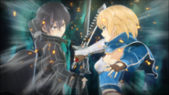Kirito and Philia fighting