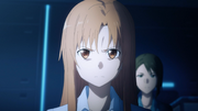 Asuna demanding an answer regarding Kazuto's whereabouts - S3E05