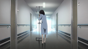 Kazuto walking in hospital
