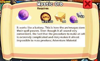 Mystic Orb Text