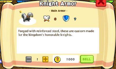 Knight Armor Text