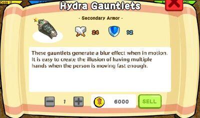 Hydra Gauntlets Text